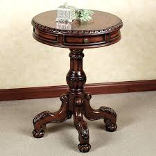 small round pedestal table excellent round pedestal side table getanyjobco in pedestal table