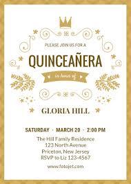 quinceanera invitations design your own quinceañera invitations online fotojet