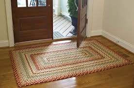 decor and floor decorating charming rectangle cotton braided rugs in big sized on
