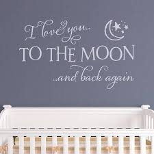 quote wall sticker all about stickers love you the moon and back quote wall sticker making