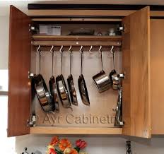Storage Ideas For Kitchen Cabinets Practical Diy Cabinet Pan Rack Pot Rack Cupboard And Organizations