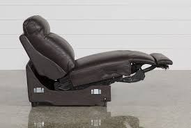 Sleek Recliner by Courtney Walnut Power Armless Recliner Living Spaces