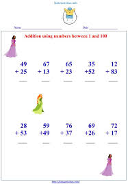 addition up to 100 worksheets kids activities