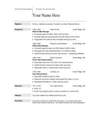 resume example download sample military resume template free