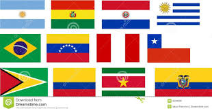 flags of all south america countries stock photo image 9039390