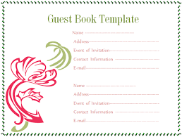 guest book sign in guest book template microsoft word templates
