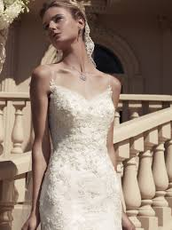 spaghetti wedding dress spaghetti fit and flare casablanca bridal gown 2117
