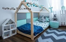 chambre bébé montessori lit maison avec sommier 80x160cm esprit montessori mobilier et
