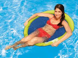 swimways spring float papasan green dark blue