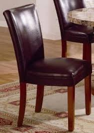 Leather Parsons Chairs Cherry Dining Set Parson Chair Foter