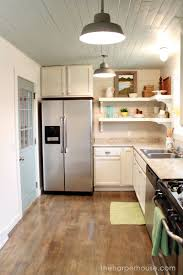 how to add diy farmhouse kitchen with open shelving the harper house