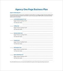 free business plan template pdf one page business plan template free template idea