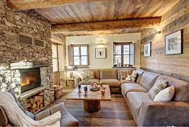 interior of the house in the style of a chalet in turin