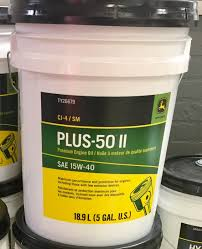 john deere plus 50 ii cj 4 diesel motor oil 15w 40 5 gallon bucket