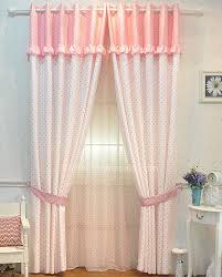 Cheap Cute Curtains And Pink Polka Dots Lace Rim Bedroom Cheap Curtains