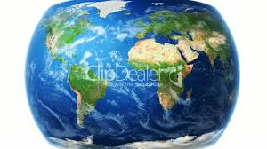 Realistic Map Of The World by Realistic World Map Wraps To Globe White Bg Royalty Free Video