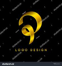 letter p luxury logo design gold stock vector 430426996 shutterstock