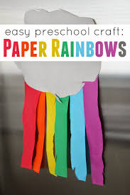 toddler approved easy preschool cutting craft paper rainbows