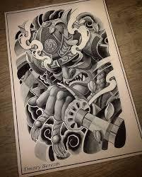 samurai helmet oriental tattoo design litattoo pinterest