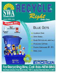 recycling at home solid waste authority of palm beach county fl