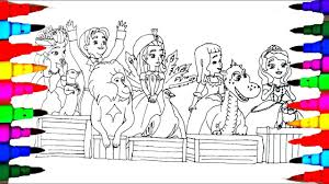 disney junior sofia coloring pages drawing