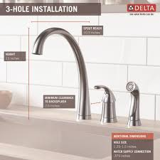 delta faucet 4380 ar dst pilar arctic stainless one handle with