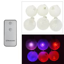 led christmas lights with remote control set of 6 battery operated led christmas hanging ball torchstar