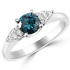 blue diamond wedding rings 1 08ct vs1 3 blue white diamond engagement ring