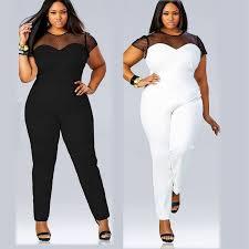 plus size jumpsuit amazon com eshow plus size perspective clubwear bodycon