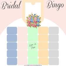free bridal shower new bridal bingo free bridal shower allfreediyweddings