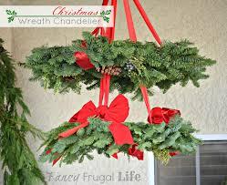 stacked poinsettia tree shelf u0026 christmas wreath chandelier