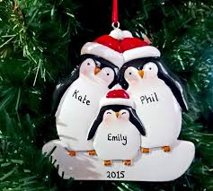 personalised penguin christmas tree decoration items similar to