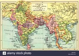 Map Of India by A 1930 U0027s Map Of India And Further India Stock Photo Royalty Free