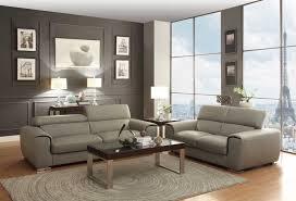 Grey Leather Sofa Set Homelegance Noemi Sofa Set Light Grey Top Grain Leather 8534
