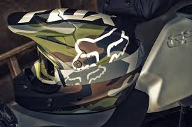 fox v1 motocross helmet camo without the ammo brace for impact phaedrus rides a