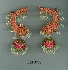 gold ear cuffs ruby pearl gold ear cuffs amrapali jewellers retailer in