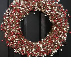 and white wreath etsy