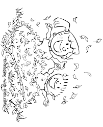 fall leaves coloring pages printable halloween