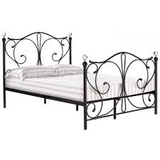 White Double Metal Bed Frame Metal Bed Frame Bedstead Single Double Kingsize 3ft 4ft6 5ft