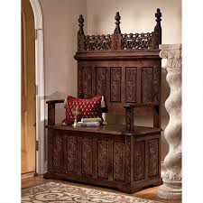 york monastery solid hardwood gothic bench design toscano