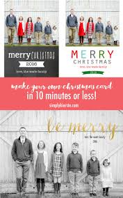 make your own christmas card in 10 minutes simply kierste