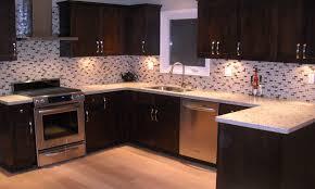 sweet kitchen backsplash tile combined with dark brown wooden