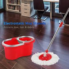 Dust Mop For Laminate Floors Amazon Com Woodsam Magic Spin Mop Bucket Included 2017