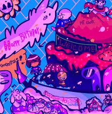 happy belated birthday by hea777 happy birthday undertale by zudix on deviantart