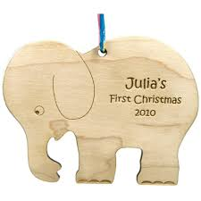 baby s ornament elephant personalized