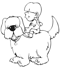 puppy coloring pages girls kids coloring
