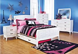kids roomstogo shop for a noir white 5 pc bedroom at rooms to go kids