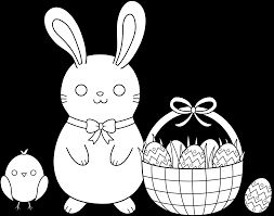 cute easter coloring page free clip art
