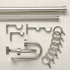 Metal Pipe Curtain Rod Matte Nickel Curtain Hardware Crate And Barrel