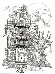 ghost haunting printable coloring page halloween skeleton haunted